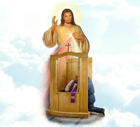Spowiedź św. w czasie epidemii w naszej parafii.