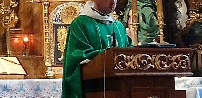 Wprowadzenie nowego o. Proboszcza Grzegorza Sekuły do kościoła parafialnego ( 1 wrzesień 2019)