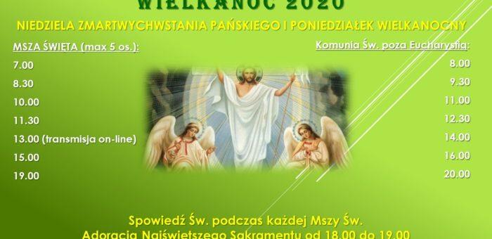 Wielkanoc 2020 – porządek Mszy św. i komunii św. poza Mszą św.